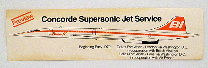 BI Concorde. ( Never flew as such)