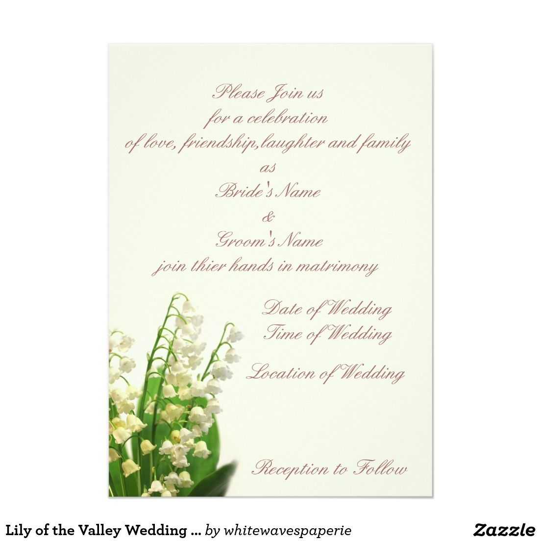 Lily of the Valley Wedding Invitation | Weddings