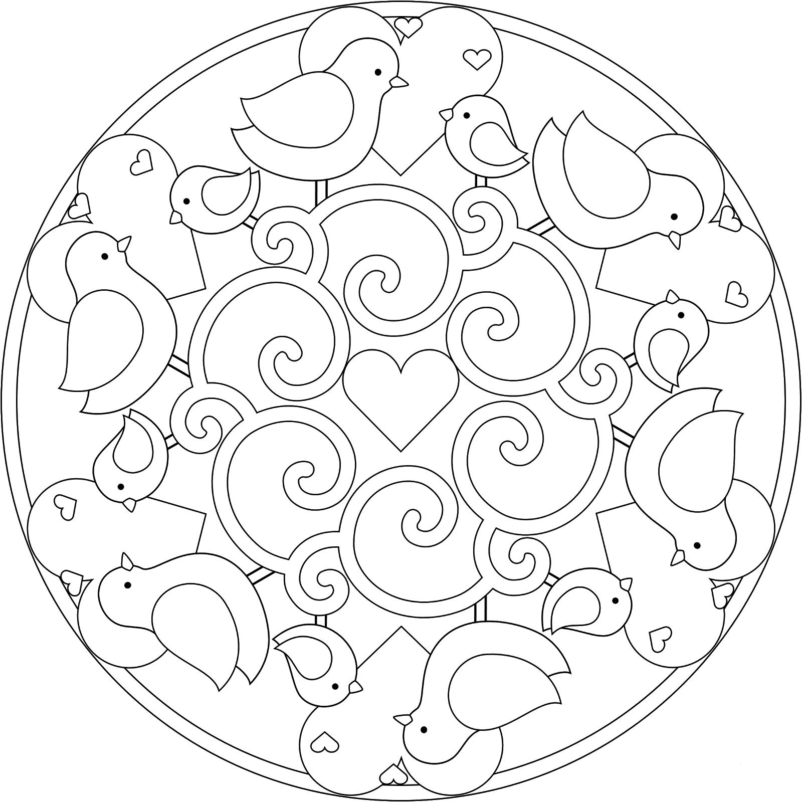 Spring Printable Mandalas