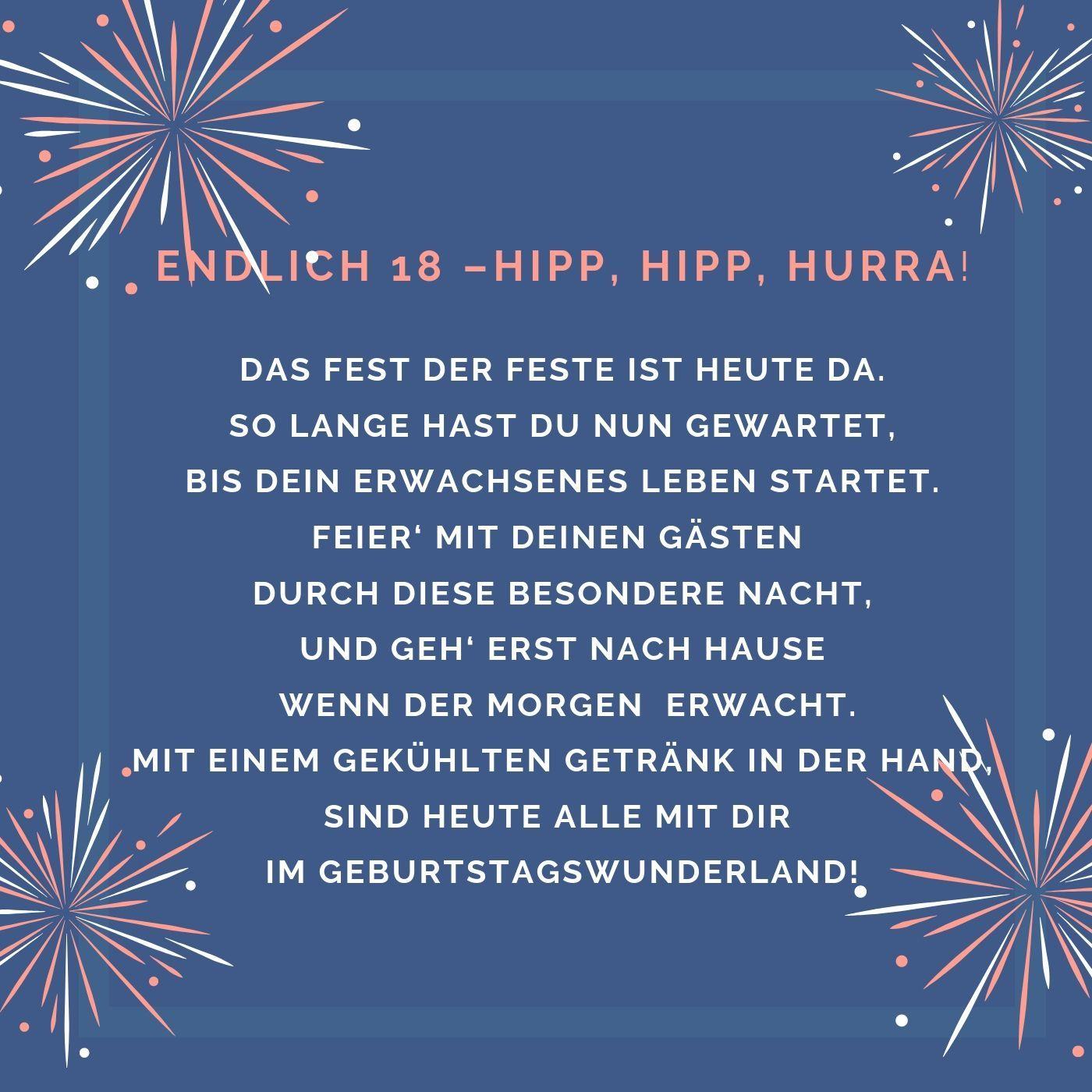 Endlich 18 Lustige Gluckwunsche Zur Volljahrigkeit Fur Freunde 18 Geburtstag Spruch Spruche Zum 18 Geburtstag Gluckwunsche Zum 18 Geburtstag