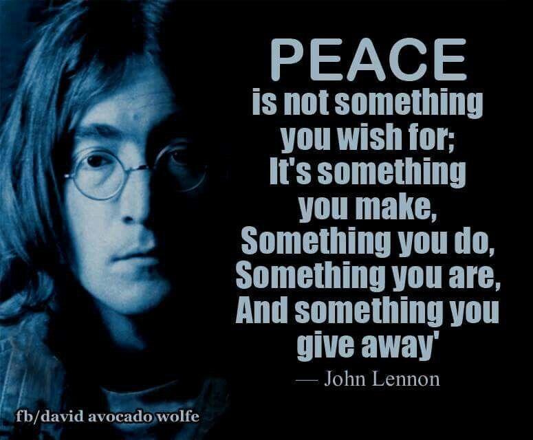 John Lennon quote | John lennon quotes, World peace quotes, John lennon