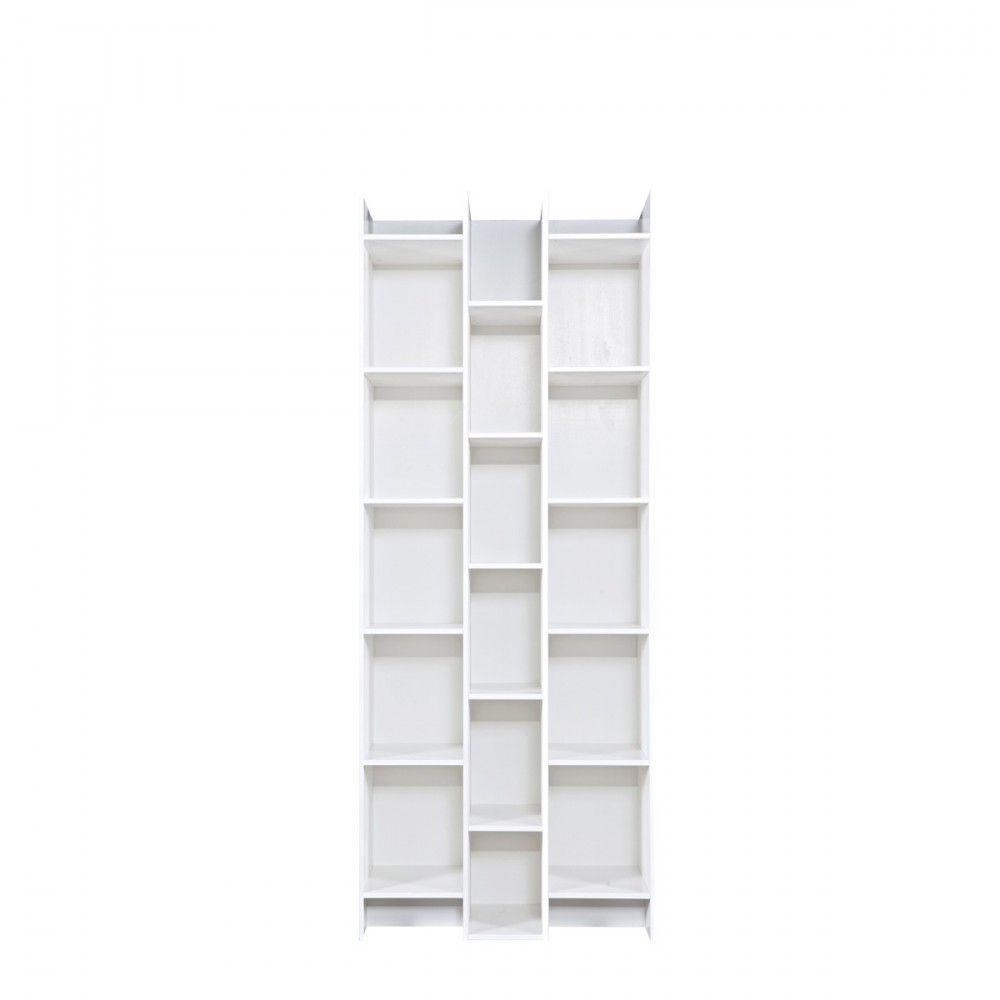 Biblioth Que Design 3 Colonnes Klasina Bibliotheque Design  # Bibliotheque Bois Clair