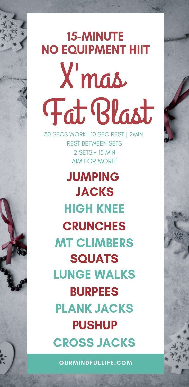 12 Days of Fat Blast - No-equipment HIIT Christmas Workout #cardioworkouts