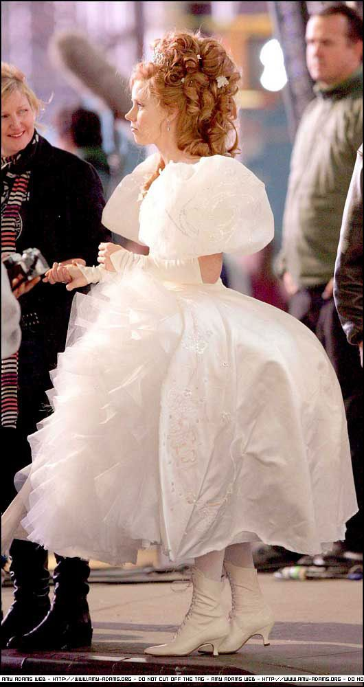 9c735332578020 one of the shorter length wedding dresses made for giselle in enchanted so  that amy adams