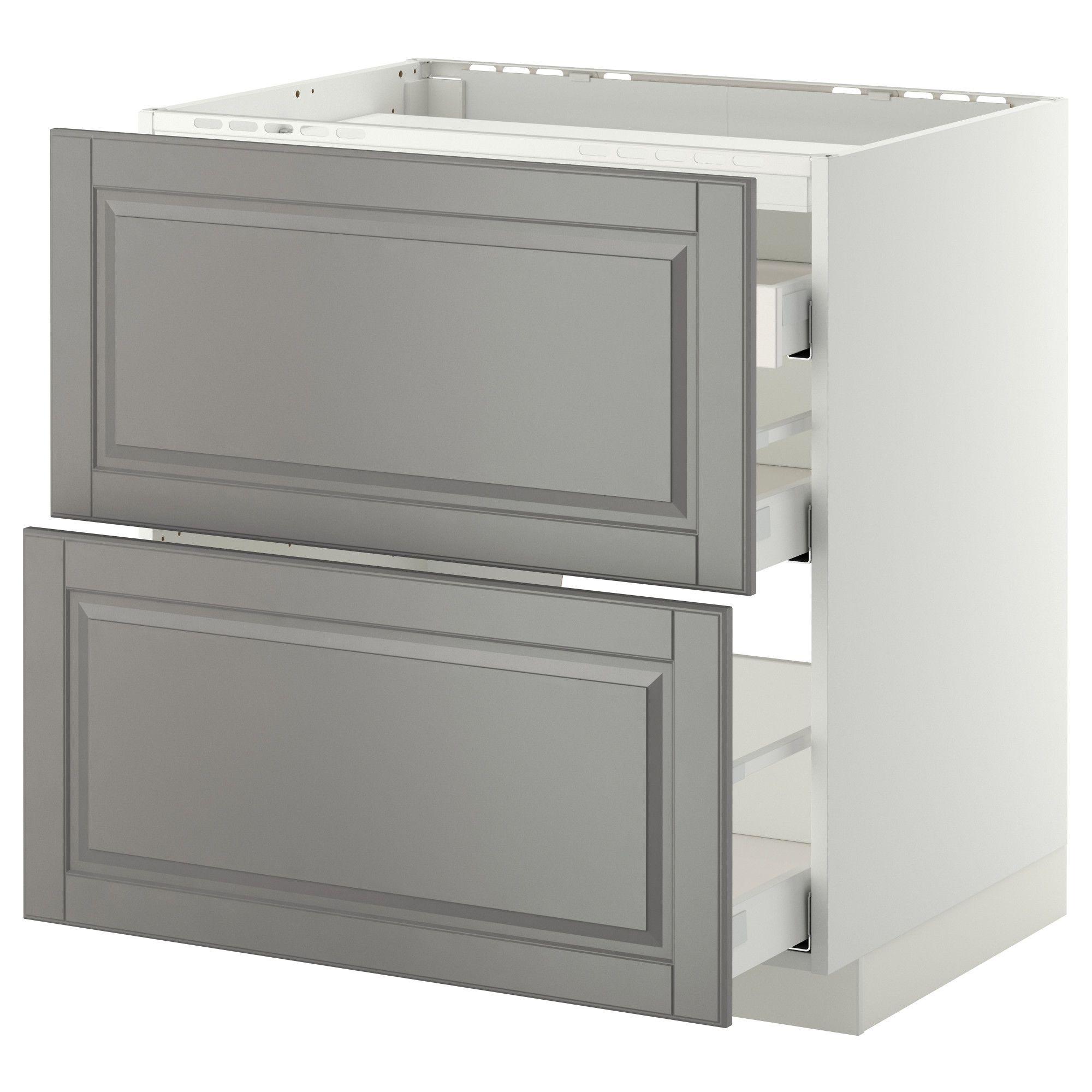 Modular Kitchens Fm 14247 Ikea Drawers Bodbyn Grey