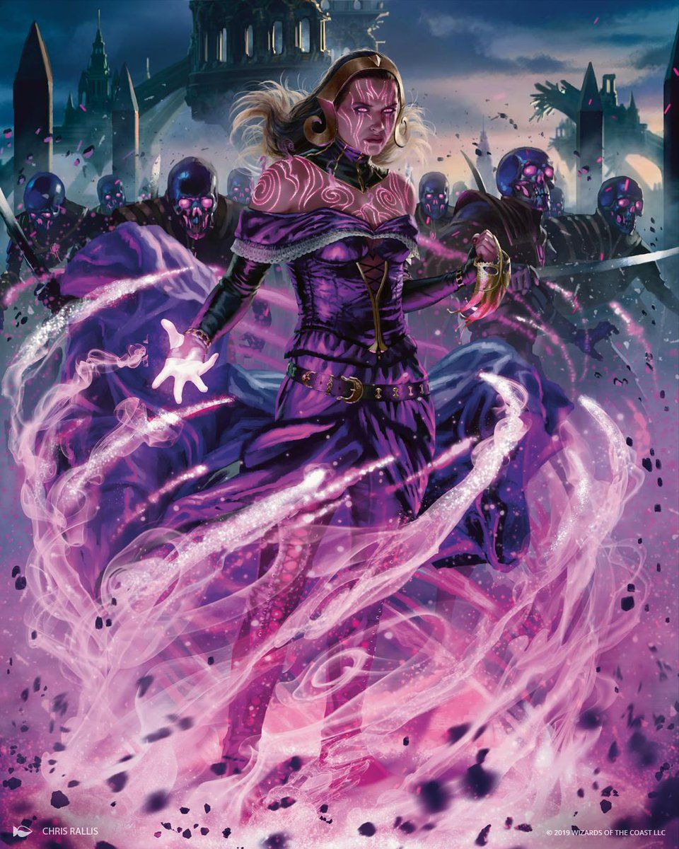 Liliana Dreadhorde General Mtg Art Dark Fantasy Art Magic Art