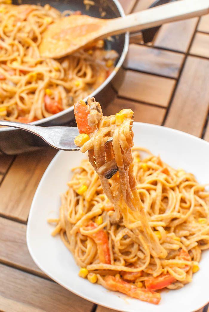 Cremig-scharfe Thai-Curry One Pot Pasta (vegan)