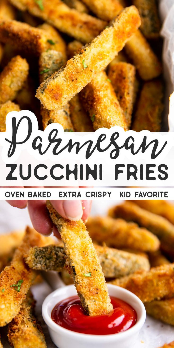 The Baked Parmesan Zucchini Fries to Make All Summer Long Not just another vegetable side dish Crispy Baked Parmesan Zucchini Fries are the best way to make this summer s...