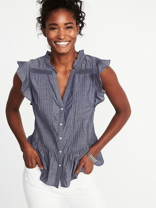 d826290cff9 Tie-Belt Waist-Defined Tencel® Utility Jumpsuit for Women