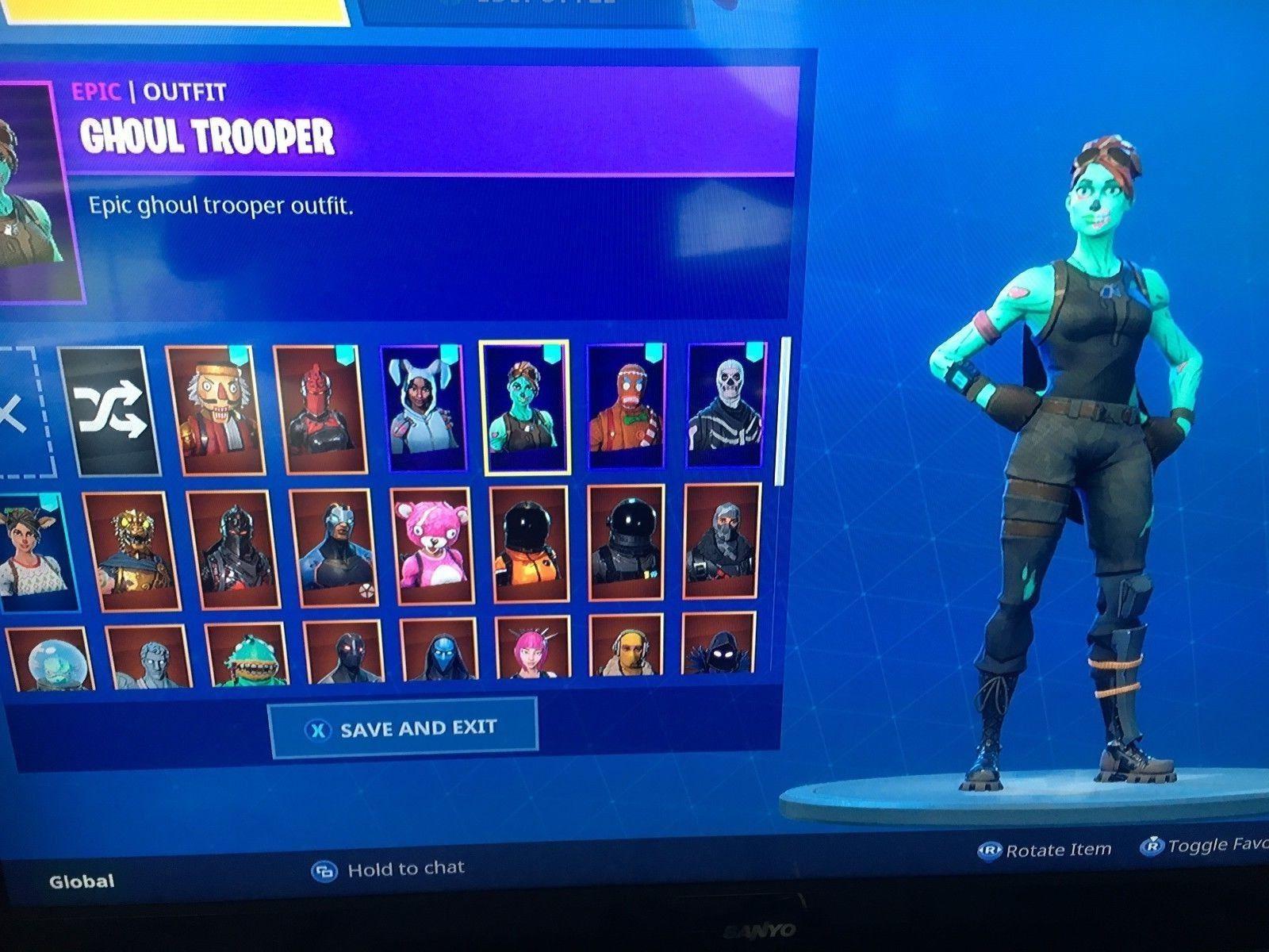 fortnite account skull trooper and ghoul trooper super rare and og - fortnite account ps4