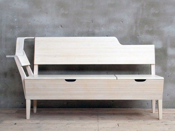 Unusual Kitchen Bench With Plenty Of Space For Storage