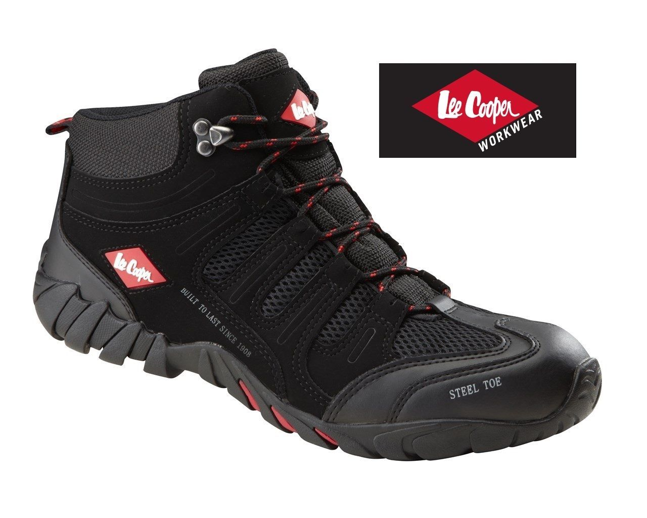 258fd6dc9 New Mens Lee Cooper Steel Toe Cap Safety Boots Trainers Workwear LC020 UK  6-12 | eBay