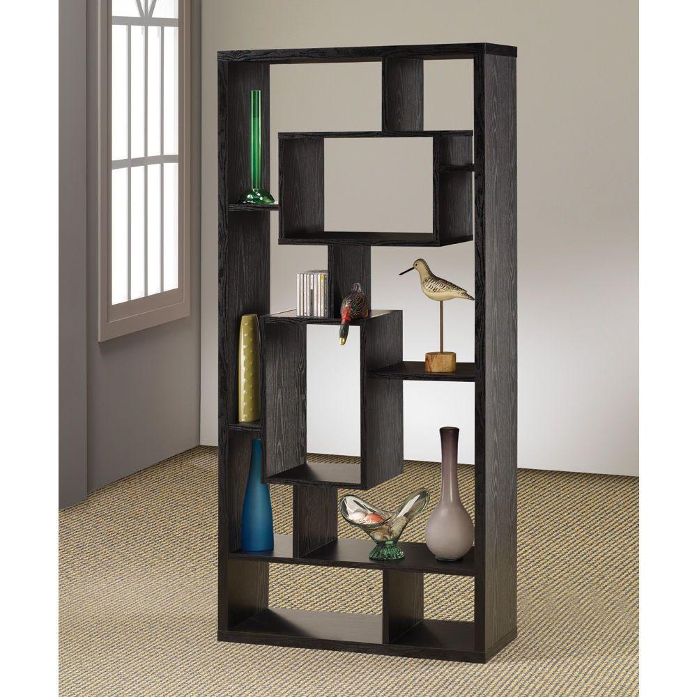 Wildon home room divider bookcase in black oak diy pinterest