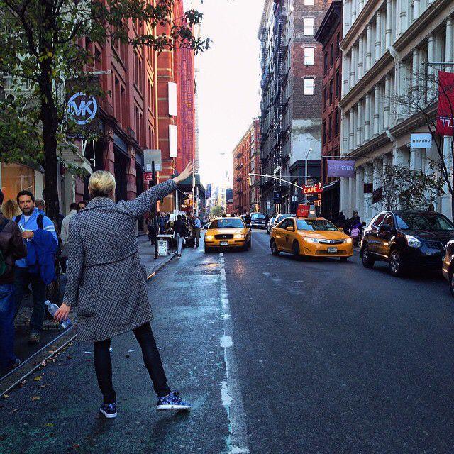On The Street: SoHo. The art of hailing a cab.