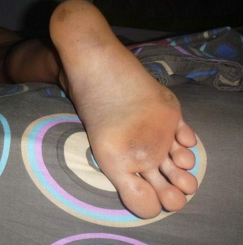 My wife barefoot railway walking - 1 4