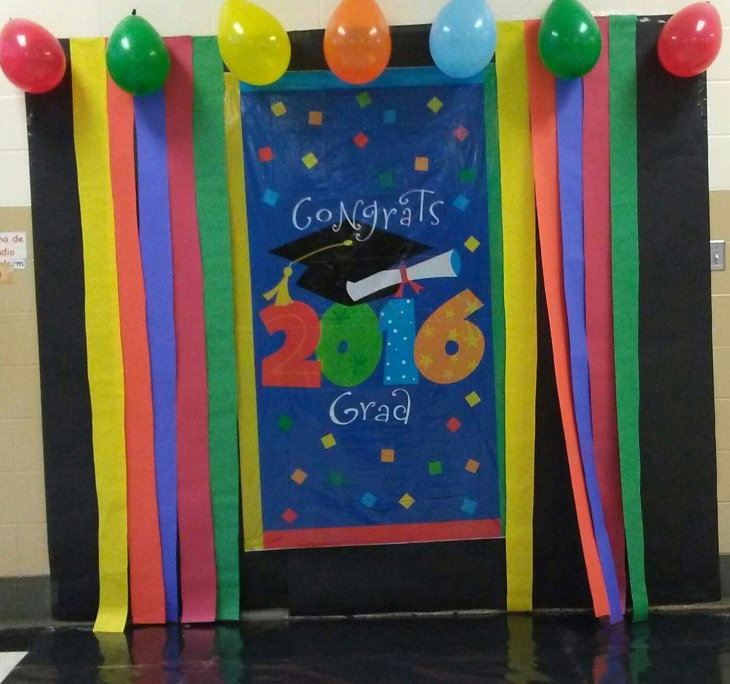Pre Kinder Graduation Backdrop