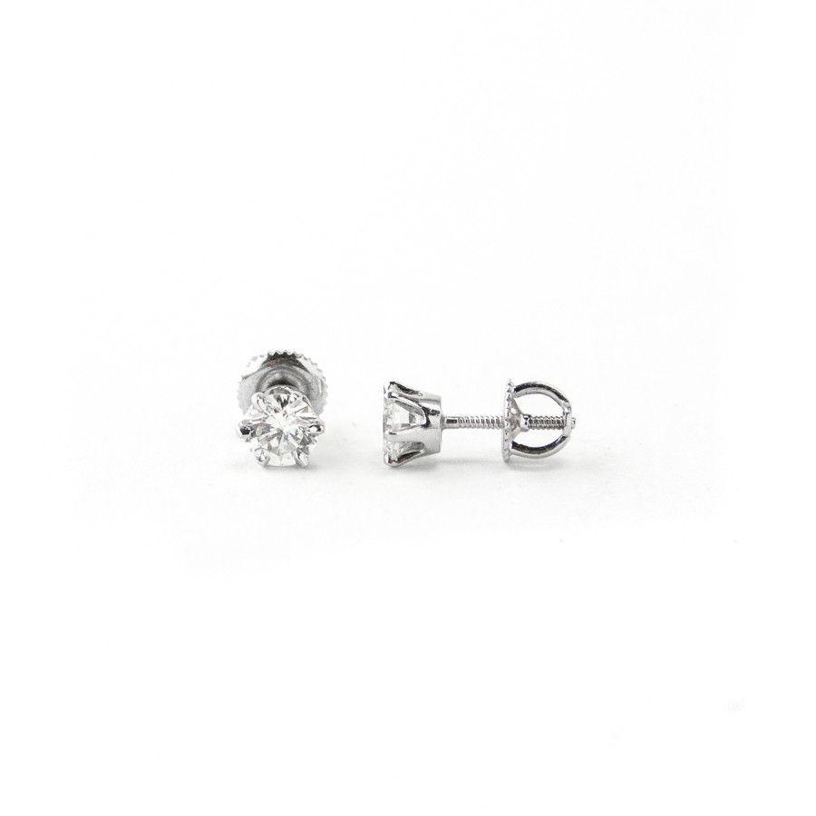 Pre Owned Diamond Stud Earrings
