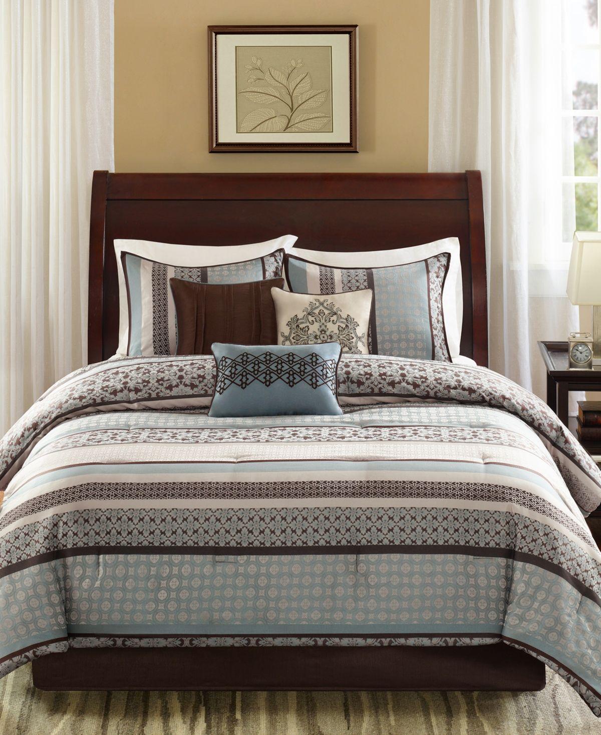 Madison Park Apartments California: Madison Park Princeton 7-Pc. California King Comforter Set