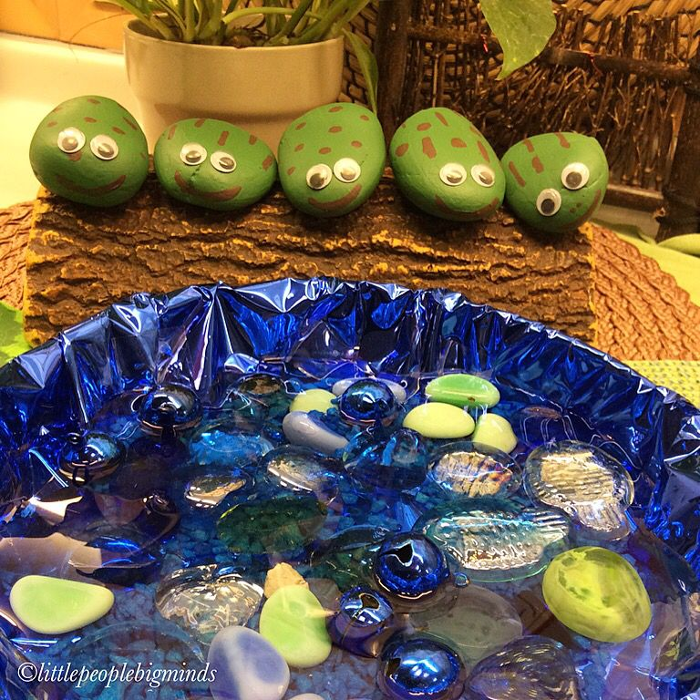 5 green and speckled frogs developing counting skills - Frosch englisch ...