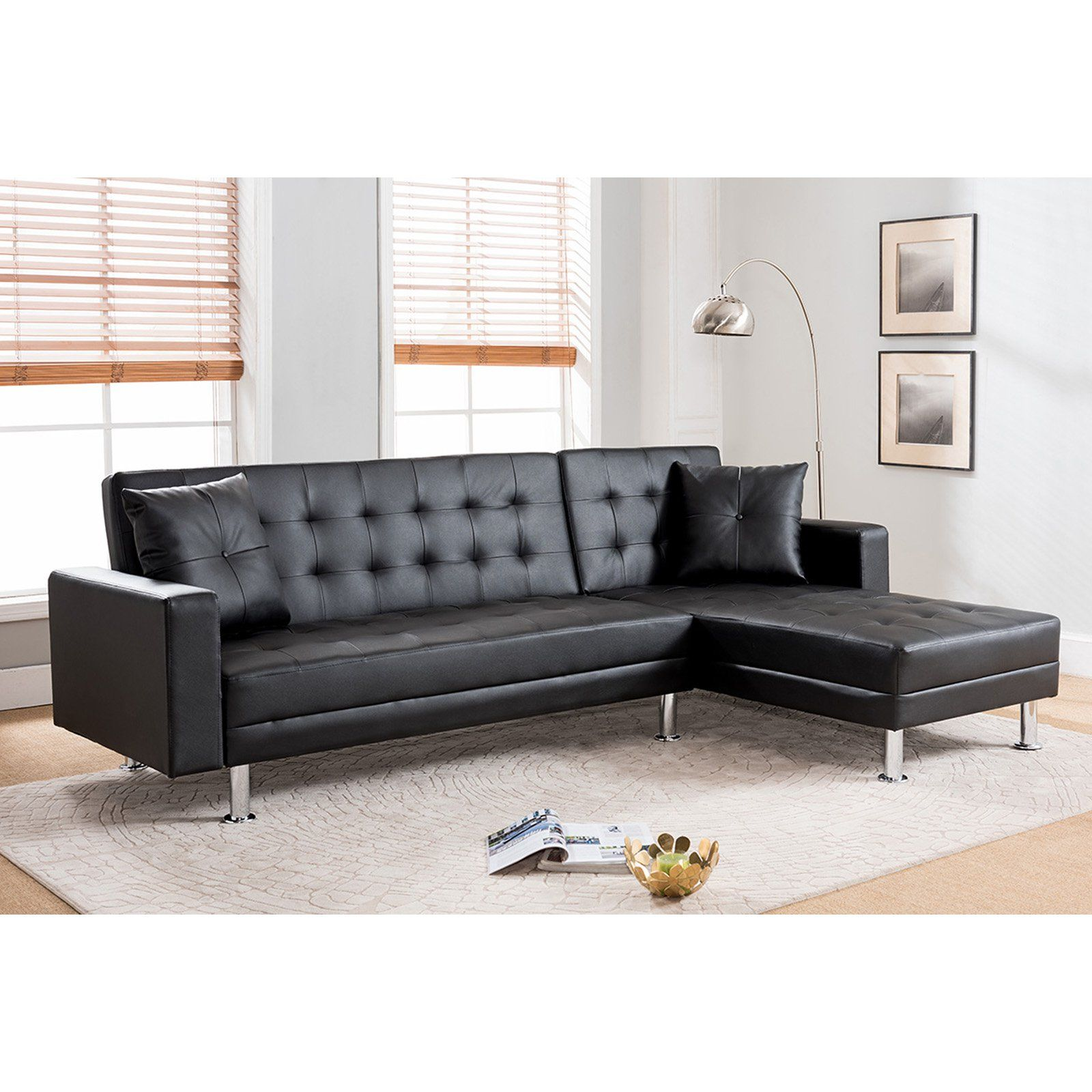 milton greens stars jett reversible chaise sofa bed sectional black rh pinterest com