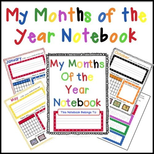 Kinder Garden: FREE Months Of The Year Notebooking Pages