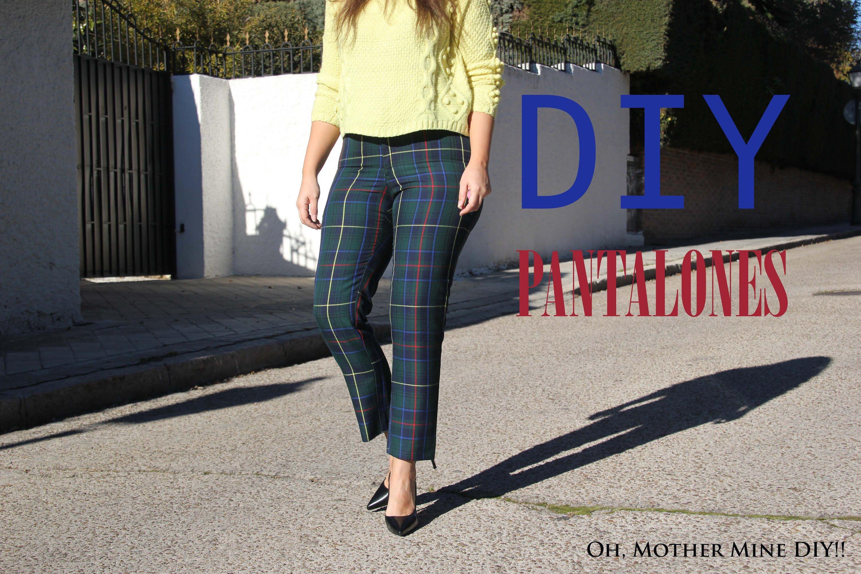 DIY Costura: Cómo hacer pantalon de cuadros (patrones gratis)