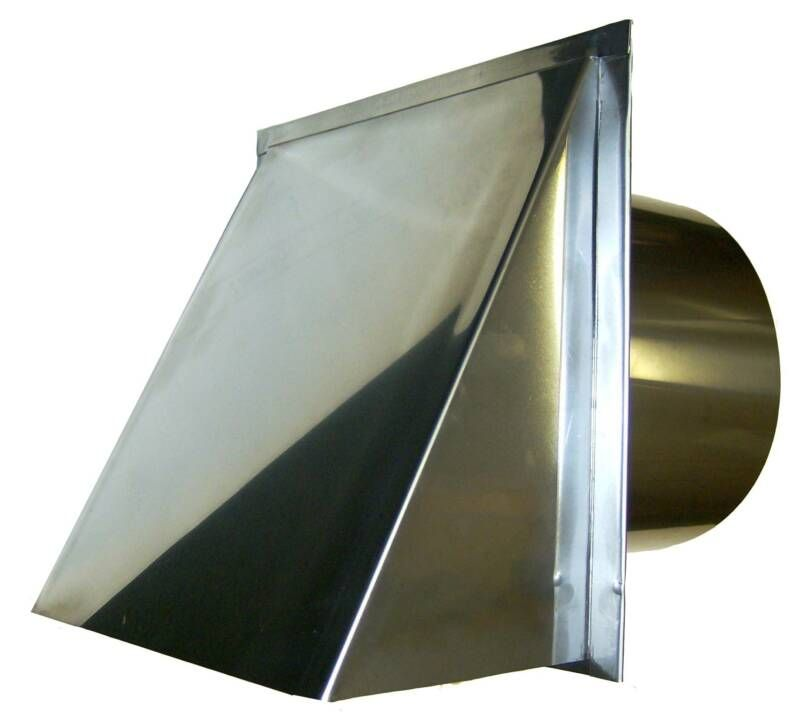 8 Inch Stainless Steel Outside Metal Vent Cover For Kitchen Range Venting.  Hard Long Lasting