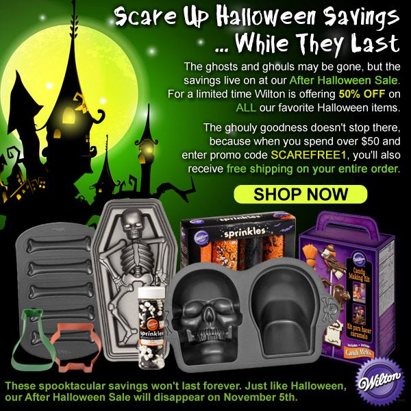 Scare Up Halloween Savings! Save 50 off all our favorite Halloween