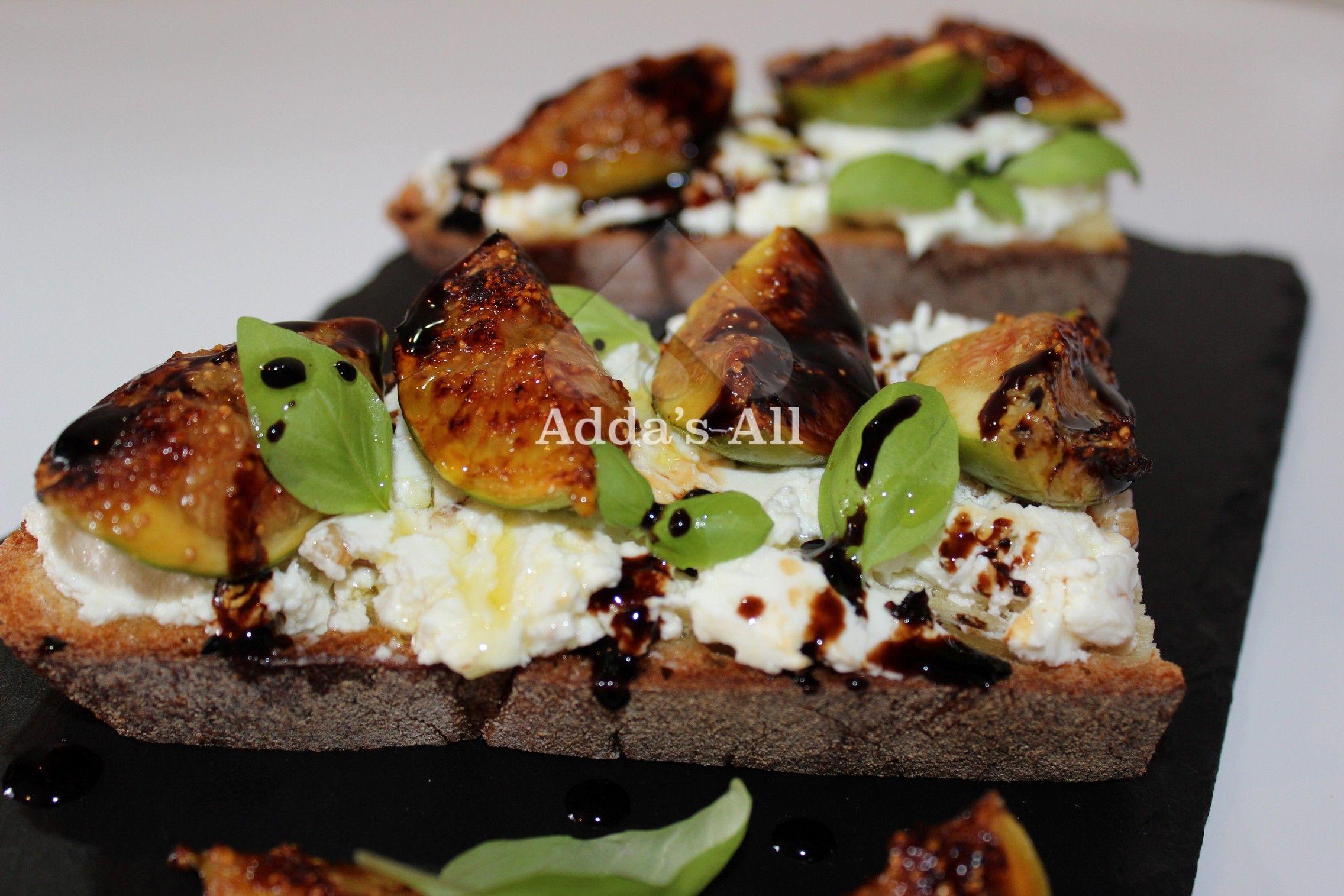 Adda s All – Brusketa me djath dhie t but dhe fiq t karamelizuar idee per cucinare Pinterest