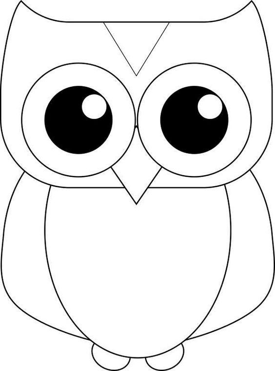 Owl color page - template for felt quiet book activity? OWL CRAFT