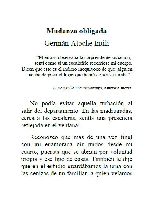 Edita El gato descalzo 1: Mudanza obligada de Germán Atoche Intili. Página 4. Descárgalo gratis en: http://elgatodescalzo.wordpress.com/2012/05/04/e-book1/