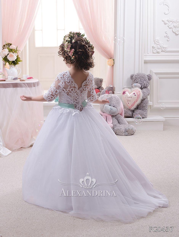 First communion flower dress for a little princess firstcommunion