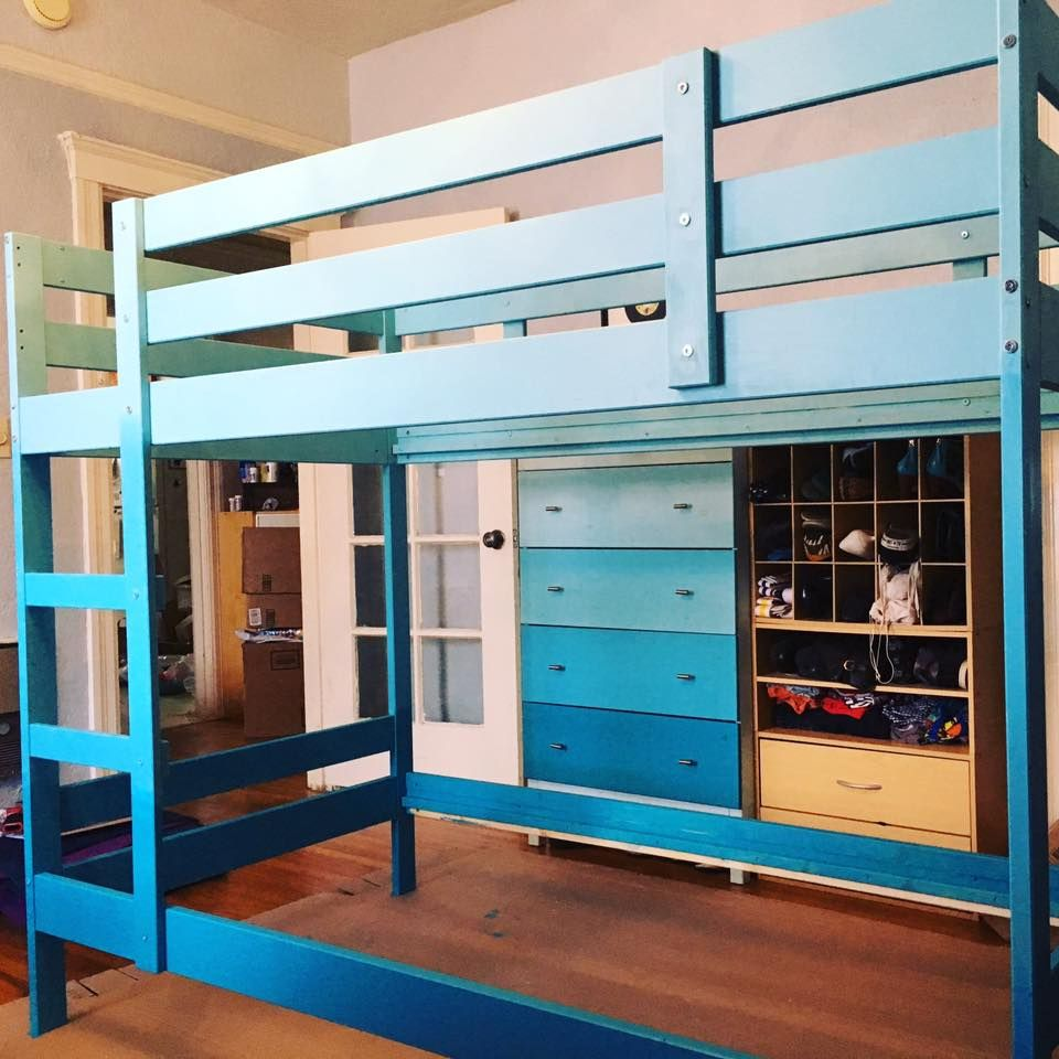 DIY Idea Ombre your MYDAL bunk bed
