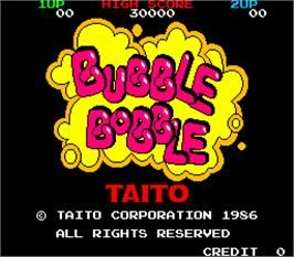 Title screen of Bubble Bobble on the Arcade  | Memories