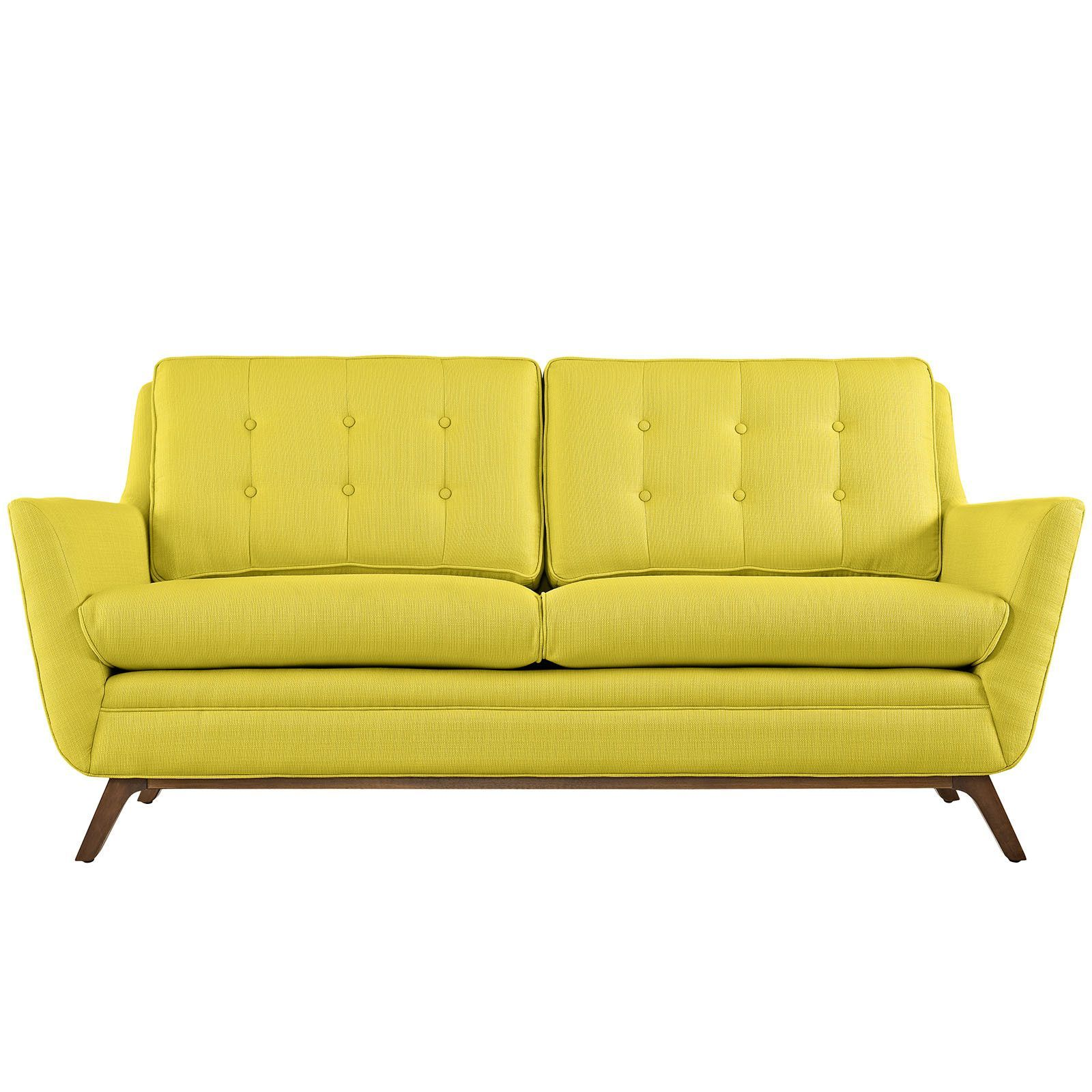 Beguile Fabric Loveseat Sunny