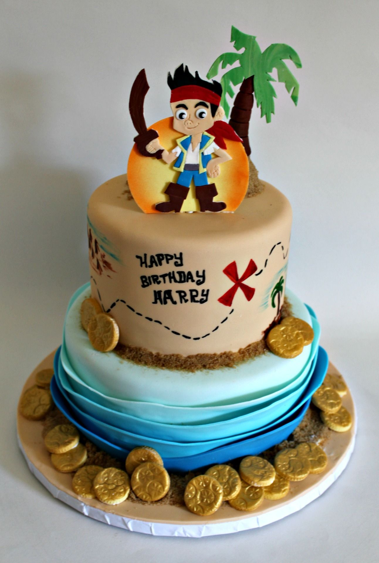 ... birthday cakes pirate party 4th birthday jake cake cake designs cake