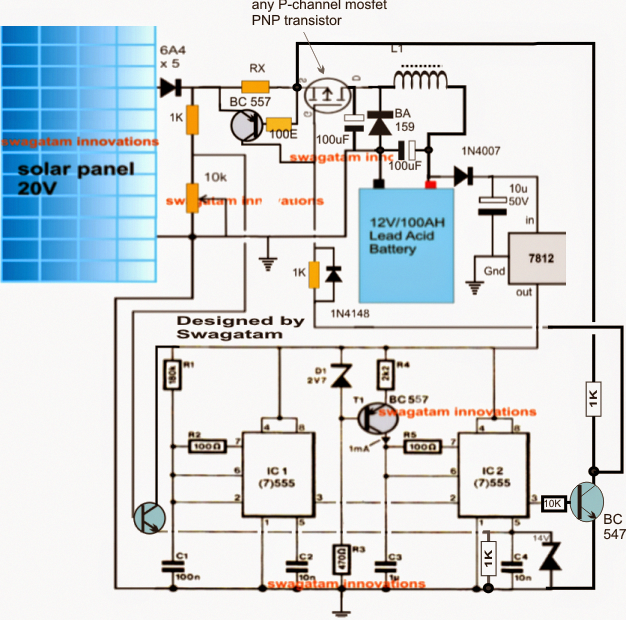 solar battery charger circuit with buck converter circuit  solar battery charger wiring diagram for 67o #9