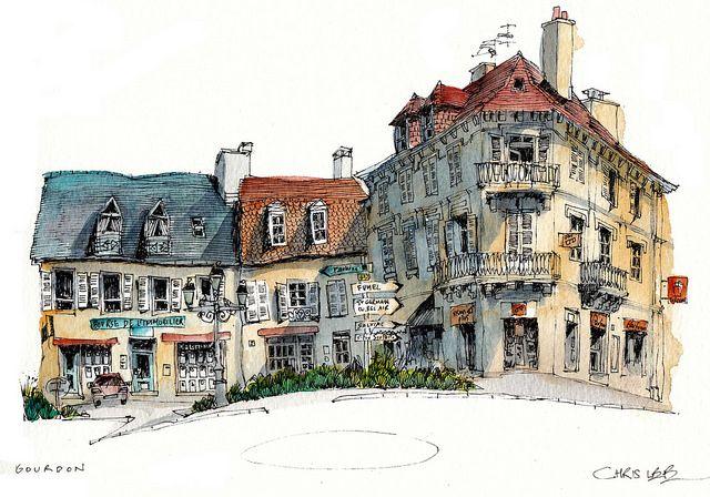 Gourdon france for Chris lee architect