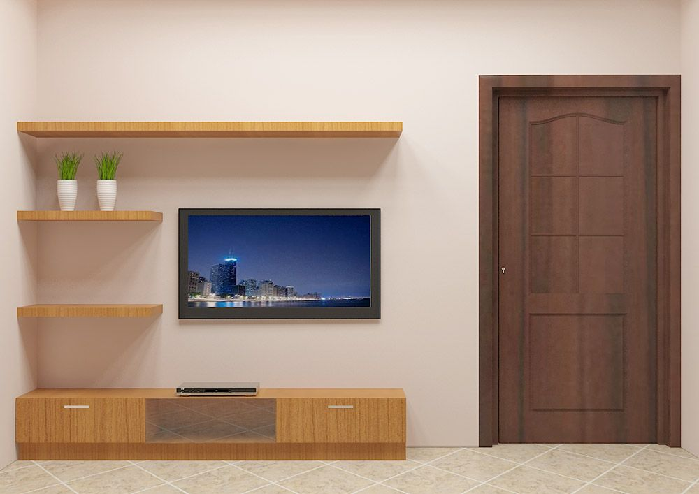 Weever TV Unit with Laminate Finish | Simple tv unit ...