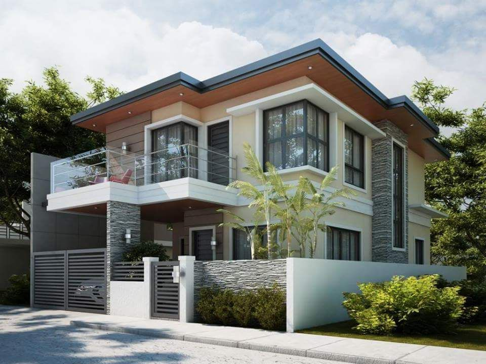 50 Photos Of Simple But Elagant Two Story House Design Bahay Ofw Two Story House Design Contemporary House Design House Exterior