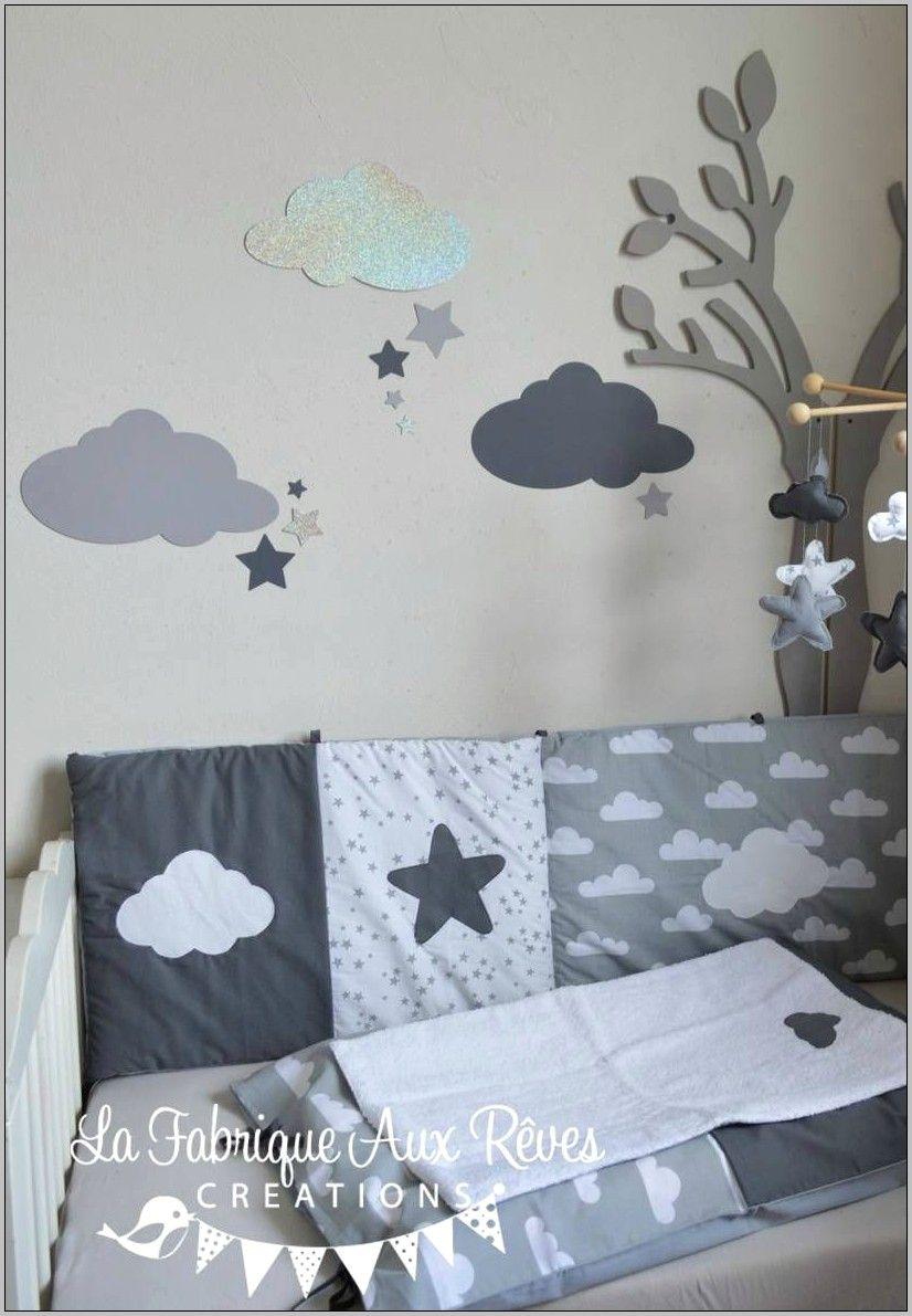 Chambre Bebe Gris Deco Theme Etoile Nuage in 16  Home decor
