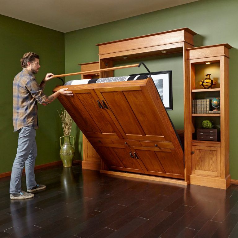DIY Murphy Bed: How to Build a Murphy Bed and Bookcase (Project)
