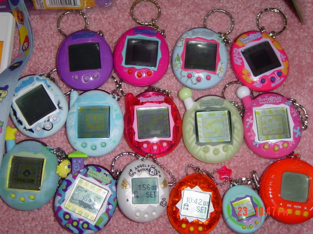"""Giga pets and Tamagotchi! I remember my mom """"babysat"""" mine when school started back and it died :( I was so sad!"""