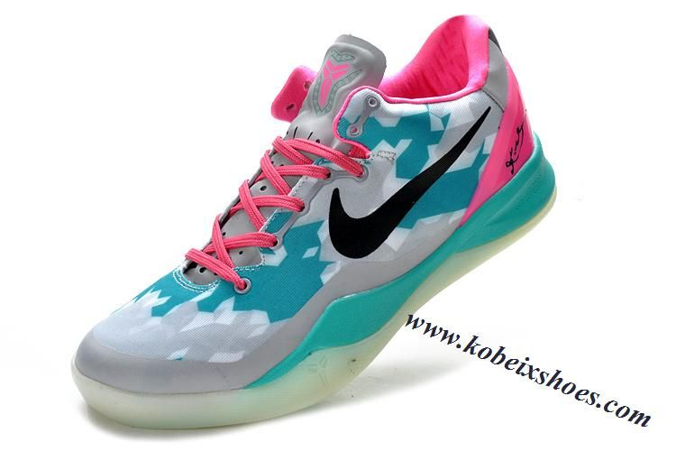 premium selection 5756a 0fabe Nike Zoom Kobe 8 Grey Green Pink Black ...