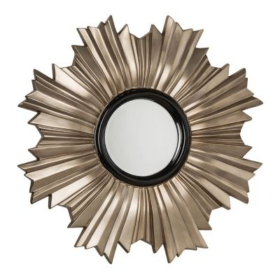 Champagne With Black Greco Wall Mirror 107 x 107 x 7cm