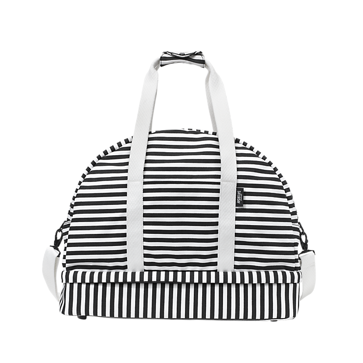 This Bag Totally Wants To Be My New Gym The Weekender In Stripe Kate Spade Saay