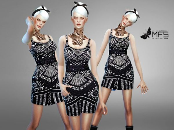 bfb42175 MissFortune's MFS Cece Dress | Sims 4 CC Fashion | Cece dresses ...