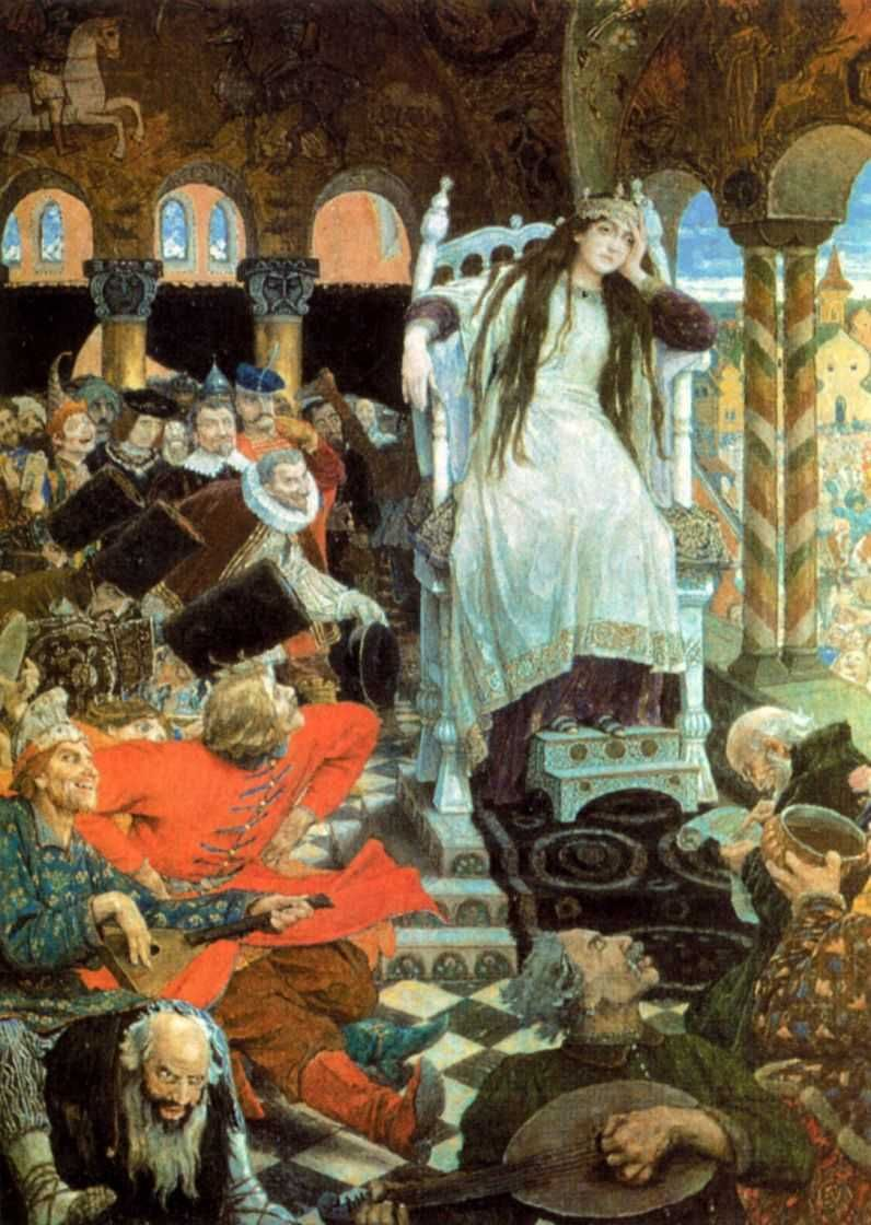 The Unsmiling tsarevna viktor vasnetsov