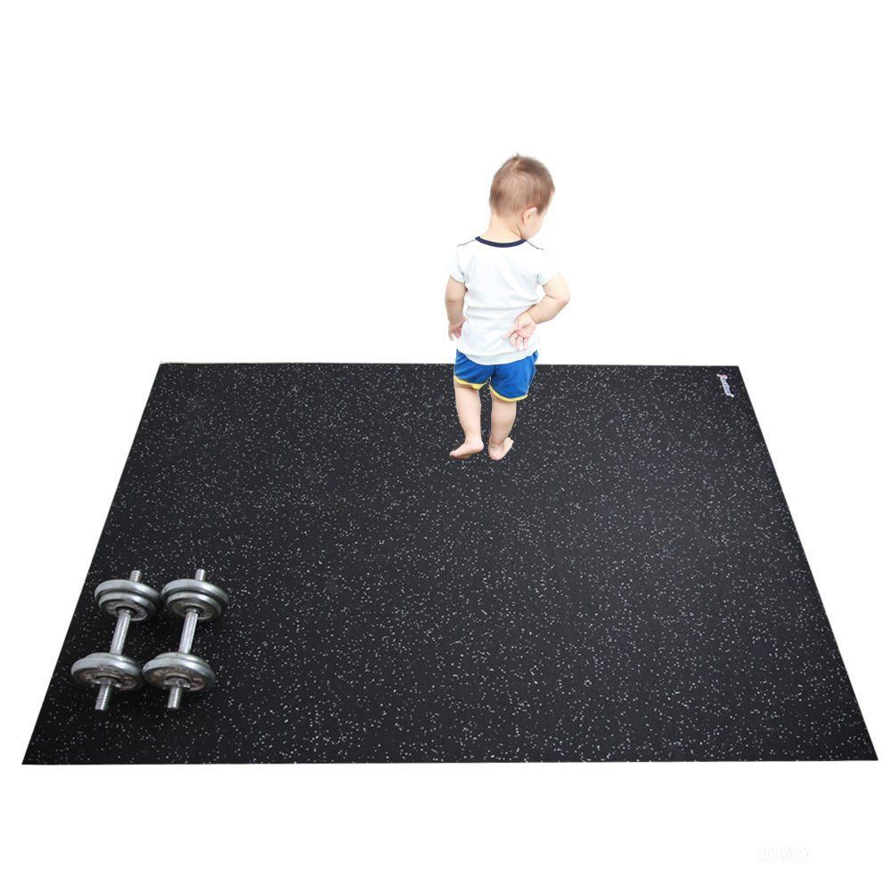 Revtime Large Gym Floor Mat 6 X 4 Feet 72x48 5mm Thick Heavy Duty
