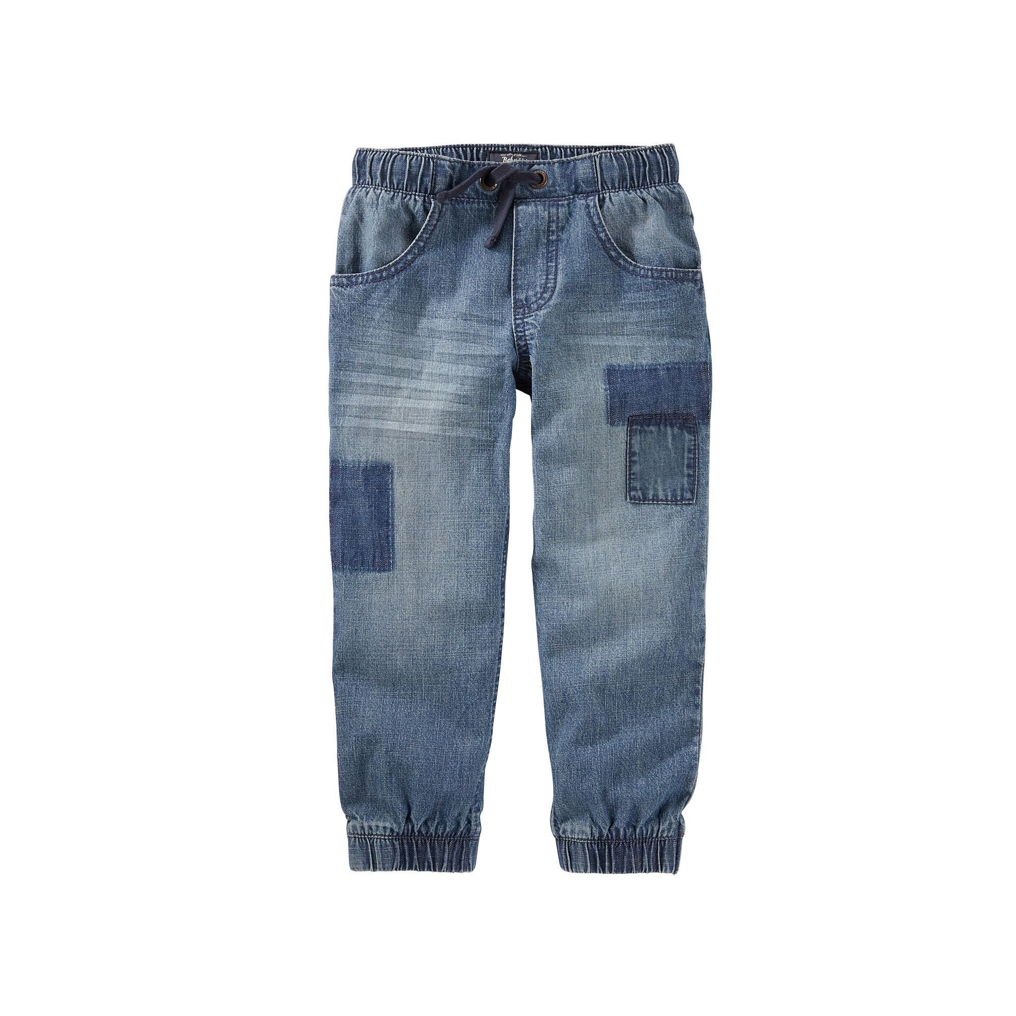 988afeea7 Toddler Boy OshKosh B'gosh® Faux-Patched Denim Jogger Pants, Size: 3T,  Blue Other